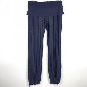 Lululemon Bust It Pants Blue Mesh Net Dancing